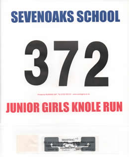 Race number and Chip